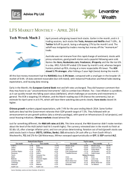 LFS MARKET MONTHLY – APRIL 2014 Tech Wreck Mach 2