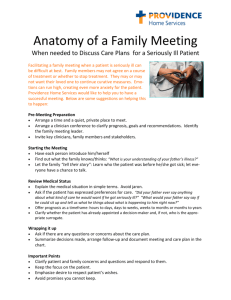 Anatomy of a Family Meeting