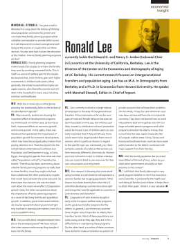 Ronald Lee - National Transfer Accounts