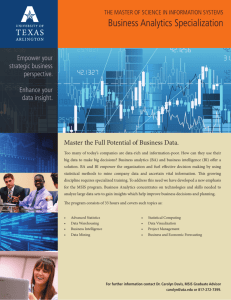 Business Analytics Brochure