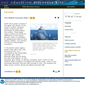 NOAA's National Ocean Service: Education Currents