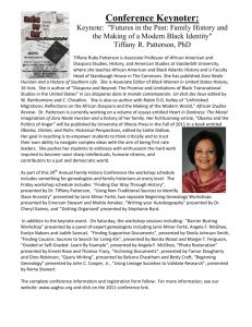 Dr. Tiffany Patterson - Afro-American Genealogical & Historical