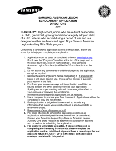 Samsung Scholarship Application Instructions