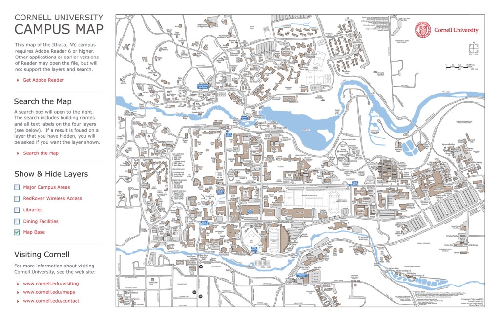 campus map chess Cornell University