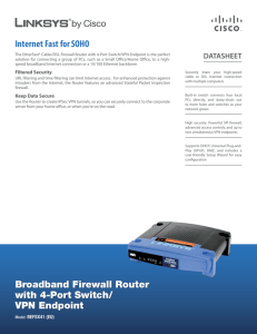 Linksys BEFSX41 Broadband Firewall Router with 4