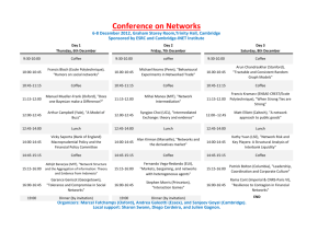 Conference Programme - The Cambridge
