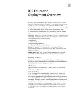 iOS Education Deployment Overview