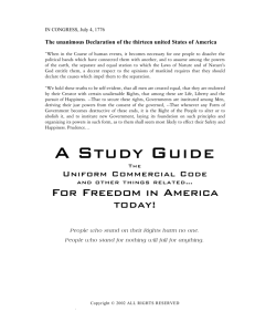 a Study Guide - Freedom School