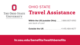 Ohio State Travel Assistance card
