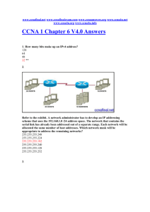 CCNA 1 Chapter 6 V4.0 Answers