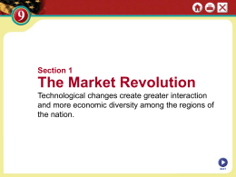 The Market Revolution
