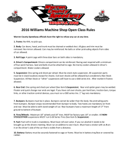 2016 Williams Machine Shop Open Class Rules
