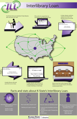 Interlibrary Loan - K-State Libraries