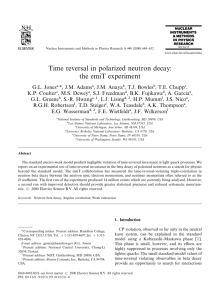 Time reversal in polarized neutron decay: the emiT experiment