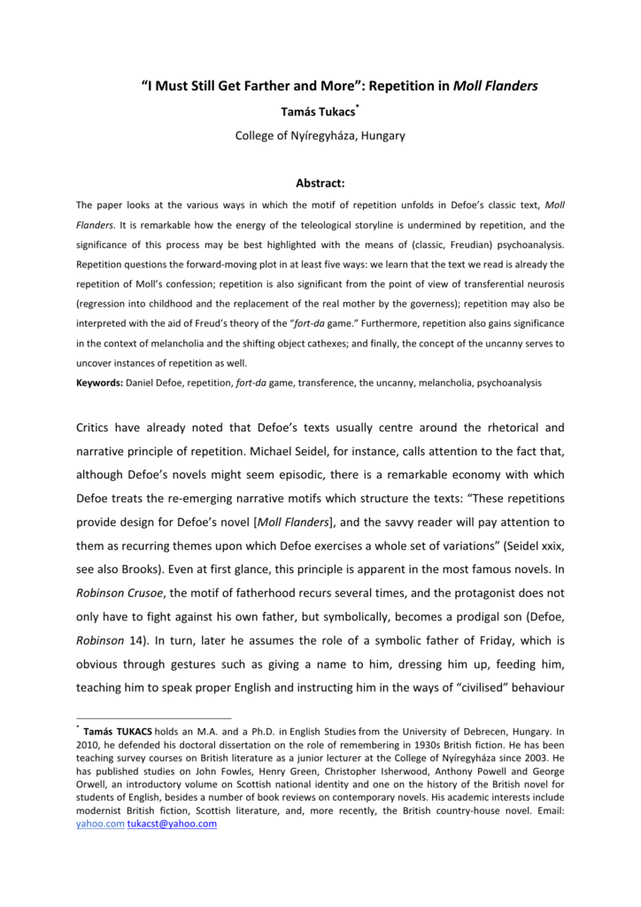 Essay Research Paper  Essay On English Subject also Essay Paper Writing Service Repetition In Moll Flanders My English Class Essay