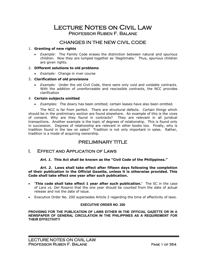 civil code of the philippines explanation