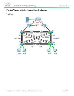 Packet Tracer – Skills Integration Challenge