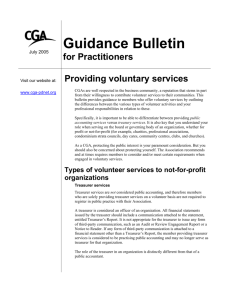 Providing voluntary services - Certified General Accountants of Ontario
