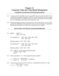Chapter 11 Corporate Value and Value