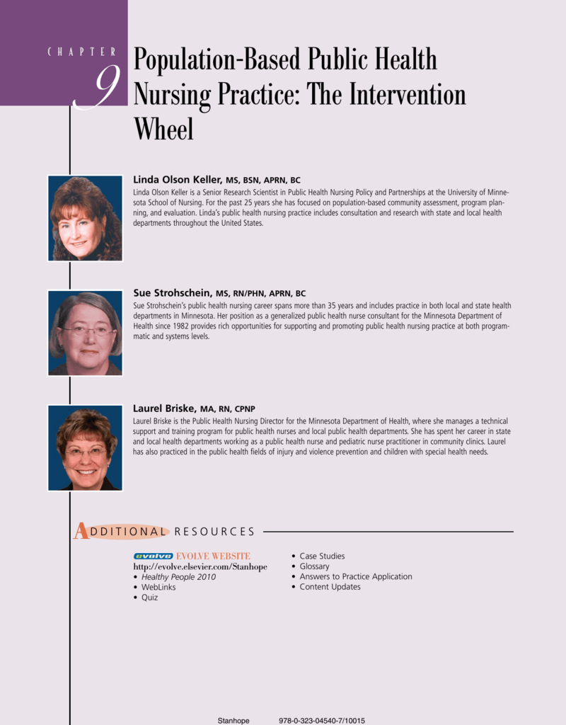 9 Population-Based Public Health Nursing Practice: The
