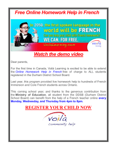 Free Online Homework Help in French Watch the demo video