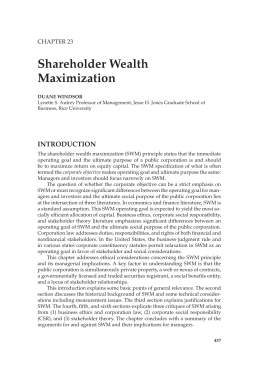 maximization of shareholder wealth 2 essay This essay has been submitted by a law student this is not an example of the work written by our professional essay writers the point of shareholder wealth maximization.