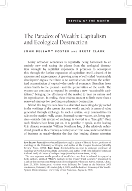 The Paradox of Wealth: Capitalism and Ecological Destruction