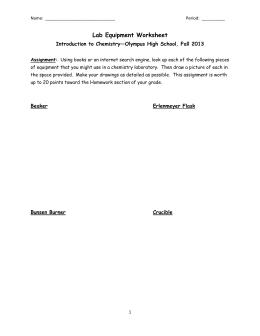 lab equipment worksheet answers pdf