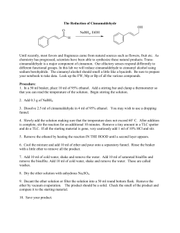 The Reduction of Cinnamaldehyde