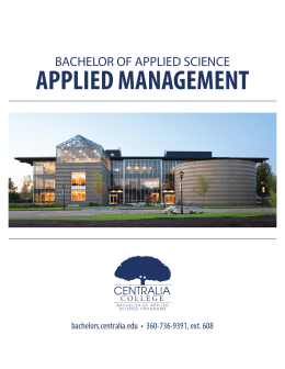 APPLIED MANAGEMENT - Bachelor Degree Programs