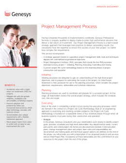Project Management Process Datasheet