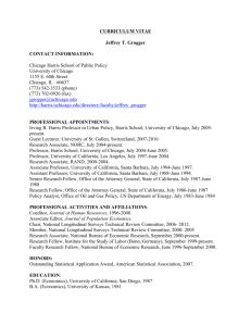 Curriculum Vitae - Harris School of Public Policy