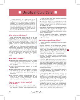 Umbilical Cord Care