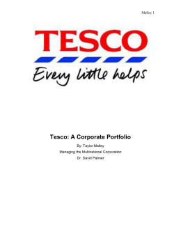 Tesco: A Corporate Portfolio