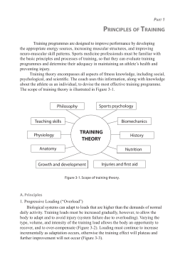 principles of training training theory