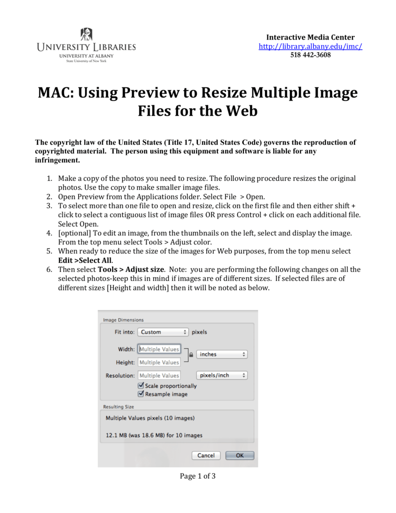 how to preview multiple pictures on mac