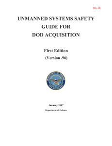 Unmanned Systems Safety Guide - National Defense Industrial