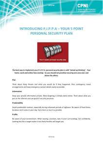 introducing pippa – your 5 point personal security plan