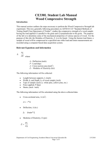 CE330L Student Lab Manual Wood Compressive Strength