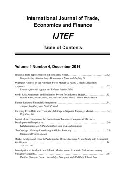 International Journal of Trade, Economics and Finance