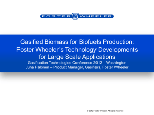 Gasified Biomass for Biofuels Production