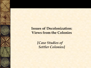 'Local Issues': Settler Colonie