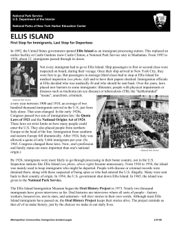 WHAT HAPPENED AT ELLIS ISLAND