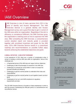 IAM Overview