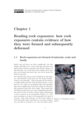 Chapter 1 Reading rock exposures: how rock exposures contain
