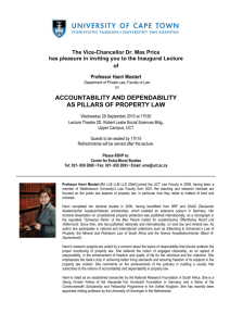 accountability and dependability as pillars of property law