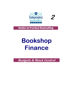 Finance - Budgets - The Booksellers Association