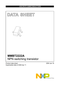 MMBT2222A NPN switching transistor