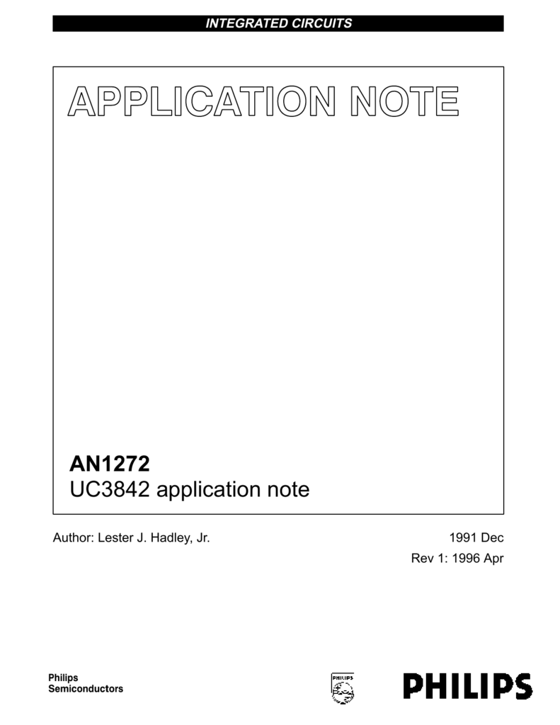 AN1272 UC3842 application note