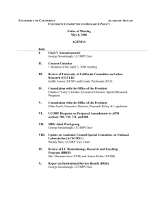 Agenda - Academic Senate, University of California